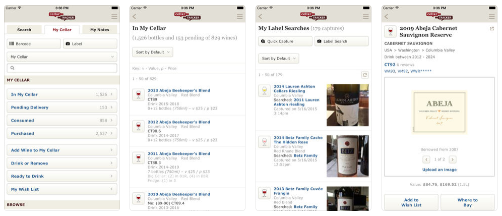 CellarTracker wine app