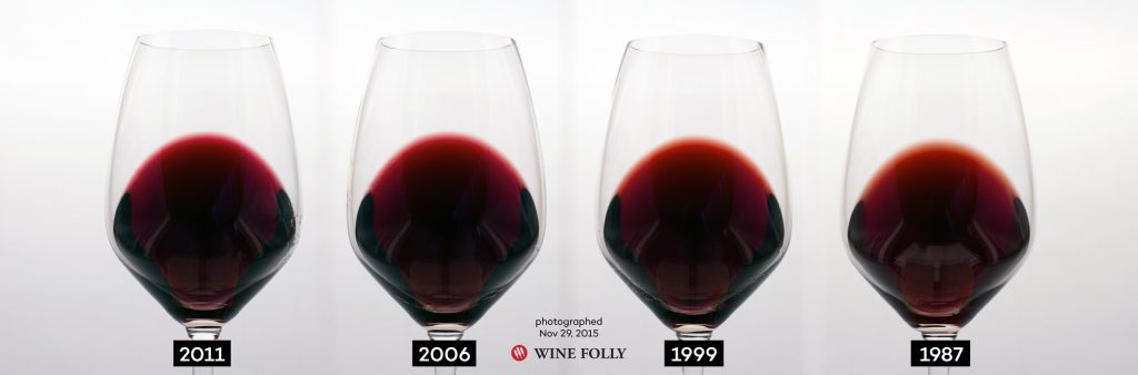 Red wine ageing over time