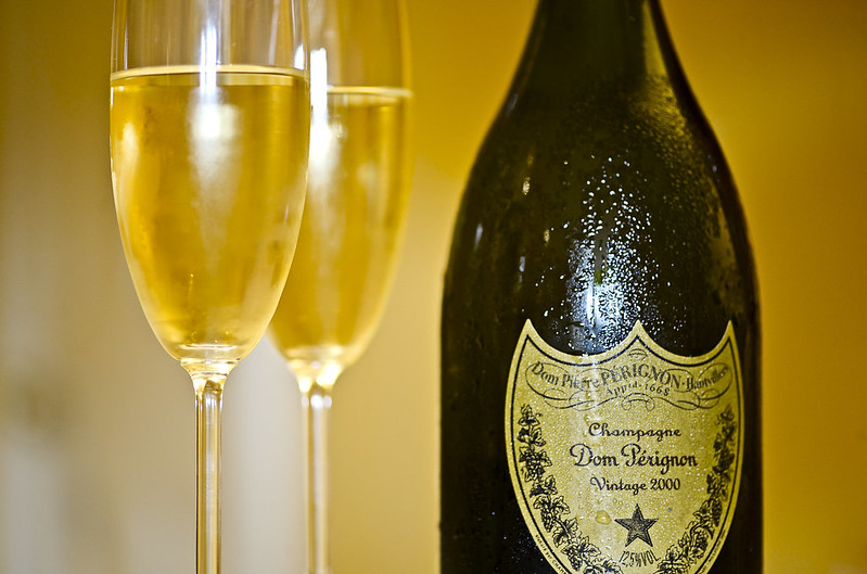 Selling Champane Online for Cash- Dom Perignon bottle