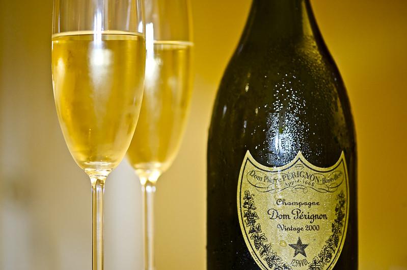Sell Champagne Online for Cash- Dom Perignon bottle